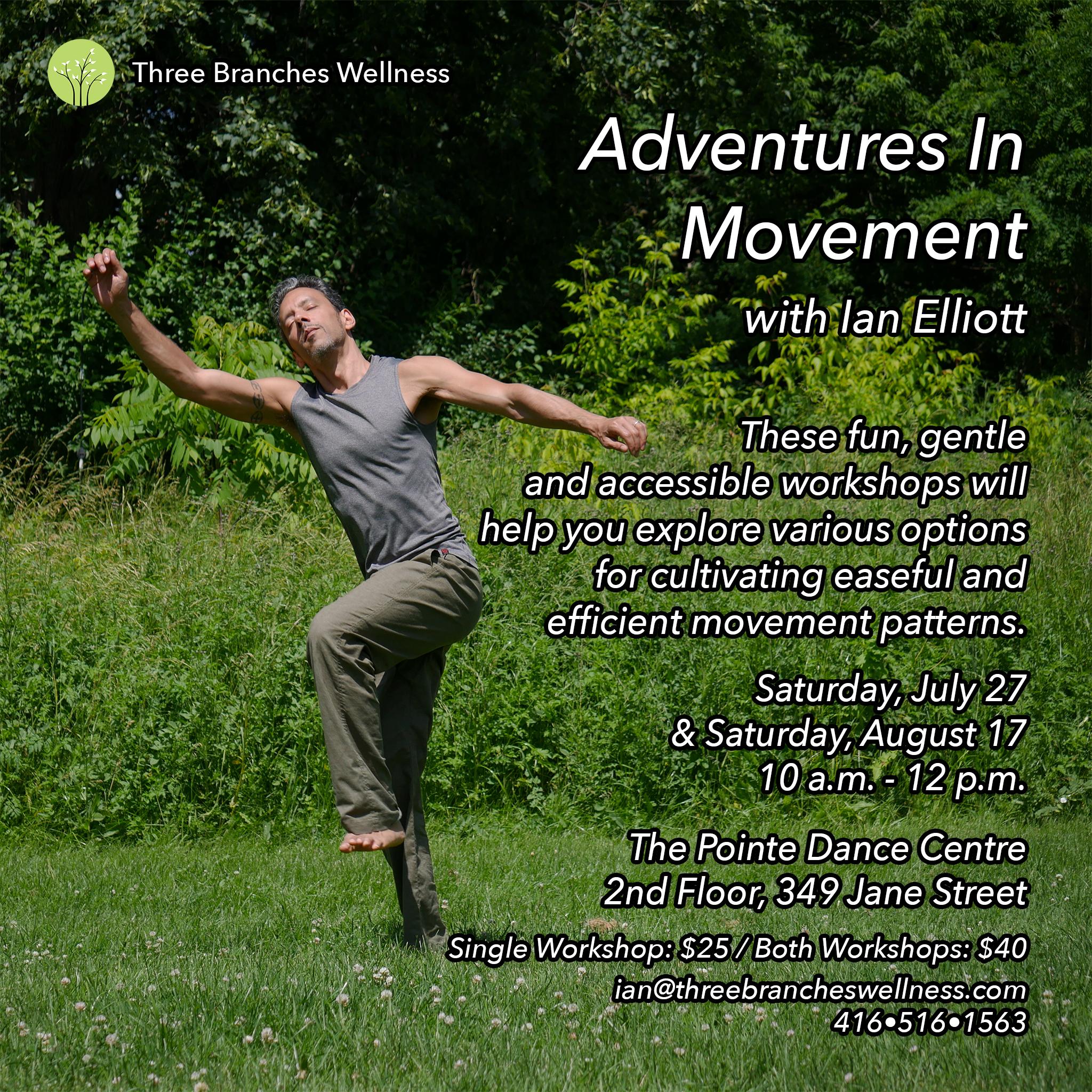 Adventures In Movement Workshop Flyer